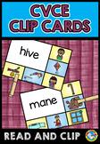 PHONICS ACTIVITIES: LONG VOWELS CENTER: CVCE CLIP CARDS: MAGIC E CENTER