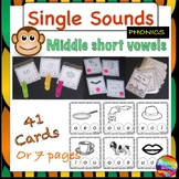 Printable PHONICS or SOUNDS ACTIVITY CARDS for Kinder and Year 1 Vowel sounds