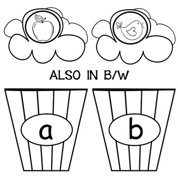 PHONICS AND PHONEMIC AWARENESS LETTER AND SOUND MATCH POPCORN