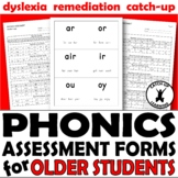 PHONICS TESTING {READING ASSESSMENT} {ASSESSMENT FORMS}