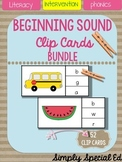 PHONICS: Beginning Sound Clip Cards for Task Box
