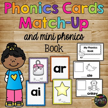 PHONICS CARDS Match Up, Sounds, Chunks, Game and Interactive Book