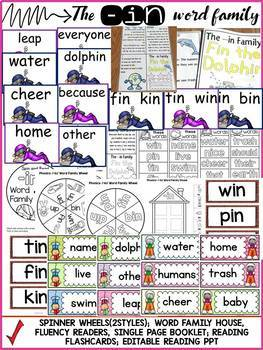 PHONICS: CVC SHORT VOWEL I: THE -IN WORD FAMILY