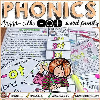 PHONICS: CVC SHORT VOWEL O: THE -OT WORD FAMILY