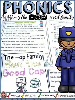 PHONICS: CVC SHORT VOWEL O: THE -OP WORD FAMILY