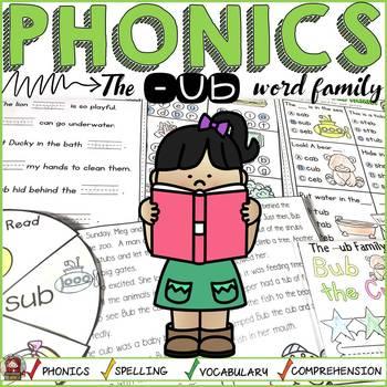 PHONICS: CVC SHORT VOWEL U: THE -UB WORD FAMILY