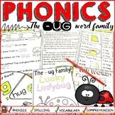 PHONICS: CVC SHORT VOWEL U: THE -UG WORD FAMILY