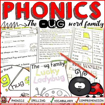 PHONICS: CVC SHORT VOWEL U: THE -UG WORD FAMILY