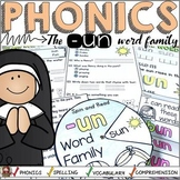 PHONICS: CVC SHORT VOWEL U: THE -UN WORD FAMILY