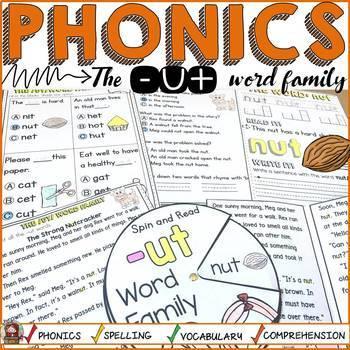 PHONICS: CVC SHORT VOWEL U: THE -UT WORD FAMILY