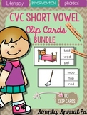 PHONICS: CVC Short Vowel Clip Card Bundle