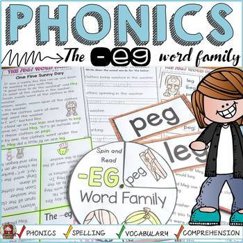 PHONICS: CVC: SHORT VOWEL E: THE -EG WORD FAMILY
