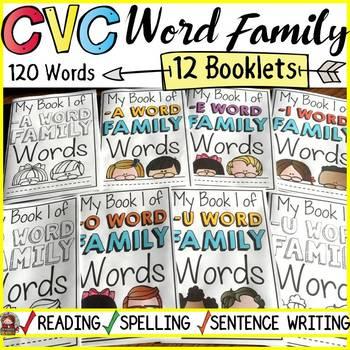 PHONICS: CVC WORD FAMILY BUNDLE: BOOKLETS