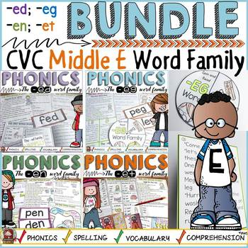 PHONICS: CVC WORD FAMILY BUNDLE: SHORT VOWEL E