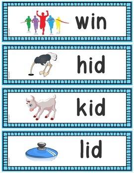 Word Families: CVC Phonics Sentence Strips Set 3 (Short I)