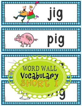 Word Families: CVC Phonics Sentence Strips Set 3 (Short I)