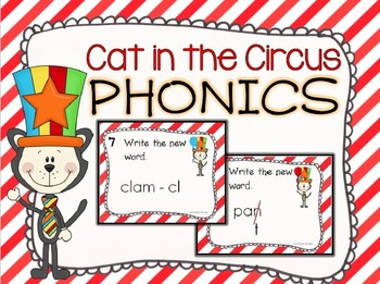 Cat in the Circus Phonics Task Cards
