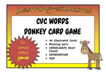PHONICS - DONKEY Card Game - Phase 1 CVC - FREEBIE