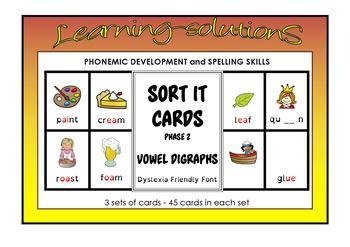 PHONICS - DONKEY Card Game  - Phase 2 - Long vowels - FREEBIE