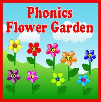 PHONICS FLOWER GARDEN DISPLAY -FLASHCARDS ENGLISH