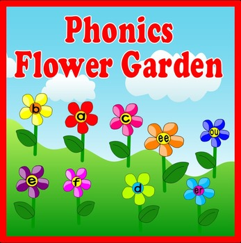 PHONICS FLOWER GARDEN DISPLAY -FLASHCARDS ENGLISH