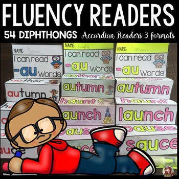 PHONICS: FLUENCY READERS: DIPHTHONGS: INTERACTIVE NOTEBOOK