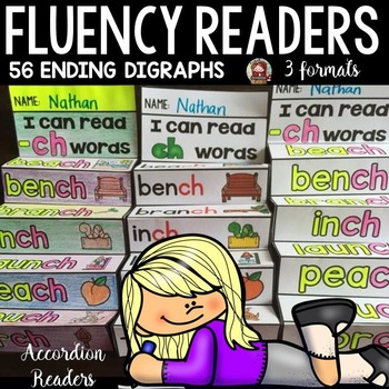 PHONICS: FLUENCY READERS: ENDING DIGRAPHS: INTERACTIVE NOTEBOOK