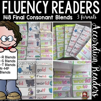 PHONICS: FLUENCY READERS: FINAL CONSONANT BLENDS