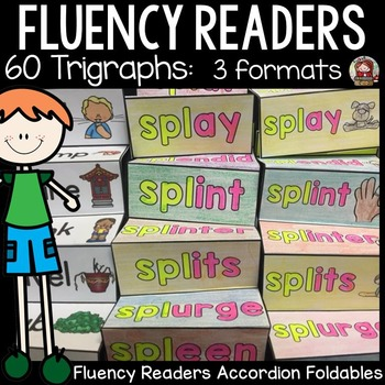 PHONICS: FLUENCY READERS: TRIGRAPHS: INTERACTIVE NOTEBOOK