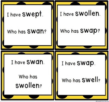 SW Blends Initial Consonant Blends Reading Games