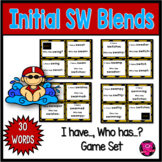 Phonics Reading Consonant Blends with Initial SW Practice Game Set