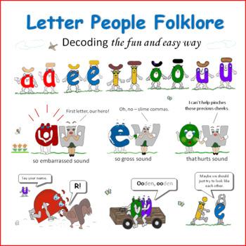 PHONICS INTERVENTION PROGRAM:  Letter People Folklore