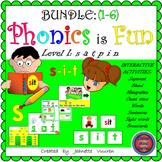 (1A-E) PHONICS IS FUN s a t p i n (BUNDLE) INTERACTIVE DIS