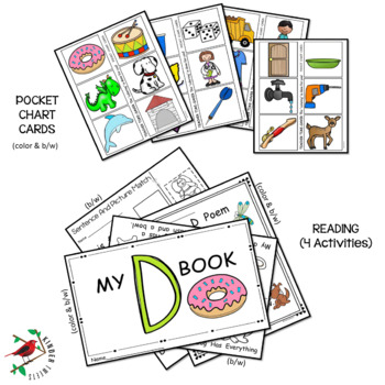 PHONICS AND PHONEMIC AWARENESS ALPHABET CENTER ACTIVITIES FOR THE LETTER D