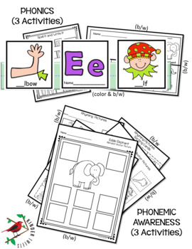 LETTER OF THE WEEK E LITERACY CENTERS PHONICS AND PHONEMIC AWARENESS