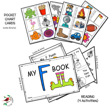 PHONICS AND PHONEMIC AWARENESS ALPHABET CENTER ACTIVITIES FOR THE LETTER F