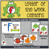 PHONICS LETTER OF THE WEEK F LITERACY CENTERS