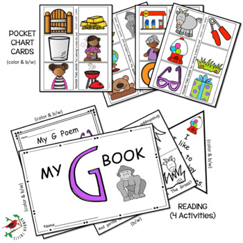 PHONICS LETTER OF THE WEEK G LITERACY CENTERS