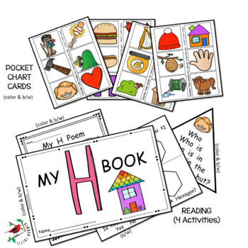 PHONICS LETTER OF THE WEEK H LITERACY CENTERS