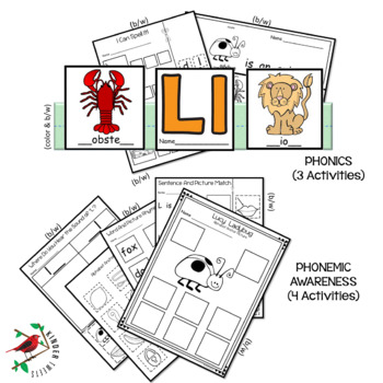 PHONICS LETTER OF THE WEEK L LITERACY CENTERS