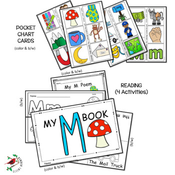 PHONICS LETTER OF THE WEEK M LITERACY CENTERS