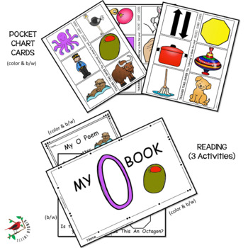 PHONICS AND PHONEMIC AWARENESS ALPHABET CENTER ACTIVITIES FOR THE LETTER O