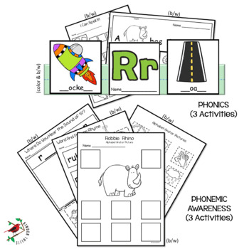 PHONICS AND PHONEMIC AWARENESS ALPHABET CENTER ACTIVITIES FOR THE LETTER R