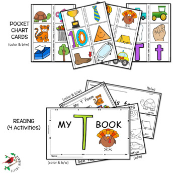 PHONICS LETTER OF THE WEEK T  LITERACY CENTERS