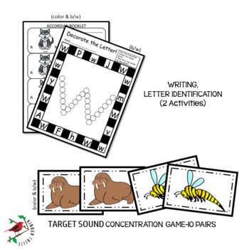 PHONICS AND PHONEMIC AWARENESS ALPHABET CENTER ACTIVITIES FOR THE LETTER W