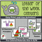 PHONICS LETTER OF THE WEEK W LITERACY CENTERS