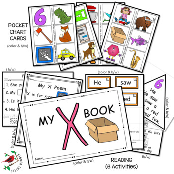 PHONICS LETTER OF THE WEEK X LITERACY CENTERS PHONICS AND PHONEMIC AWARENESS
