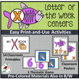 PHONICS LETTER OF THE WEEK X LITERACY CENTERS PHONICS AND