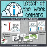 PHONICS LETTER OF THE WEEK i LITERACY CENTERS