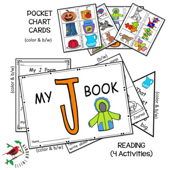 PHONICS AND PHONEMIC AWARENESS ALPHABET CENTER ACTIVITIES FOR THE LETTER J